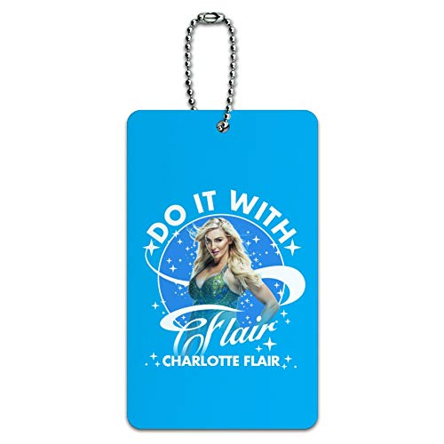 WWE Charlotte Flair Do It with Flair Luggage Card Suitcase Carry-On ID Tag