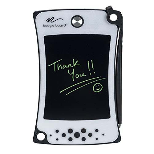 Boogie Board Jot Pocket Writing Tablet - Includes Small 4.5 in LCD Writing Tablet, Instant Erase, Stylus Pen and Built-in Kickstand, Gray