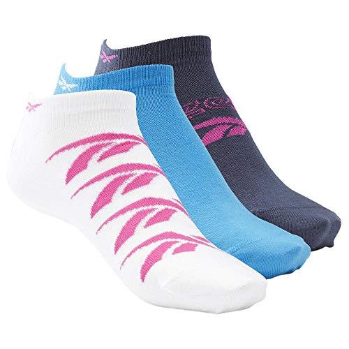 Reebok Damen W Essent 3P Invisble Sock, (maosno/horblu) / weiß, M