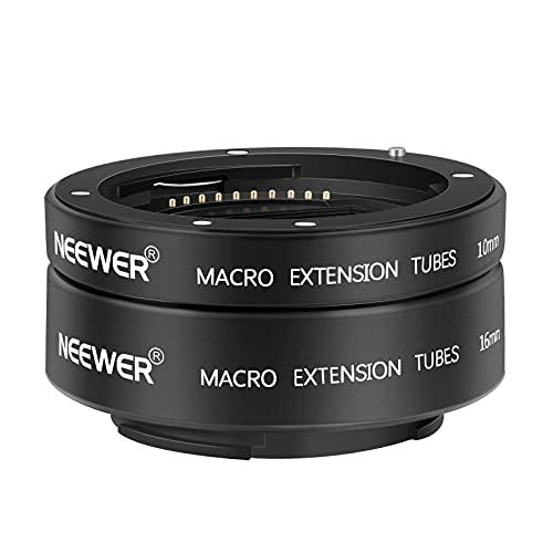 이마운트 렌즈와 최대 하중 : 500G와 호환되는 NEEWER AF 자동 초점 매크로 확장 튜브 세트 10MM 16MM