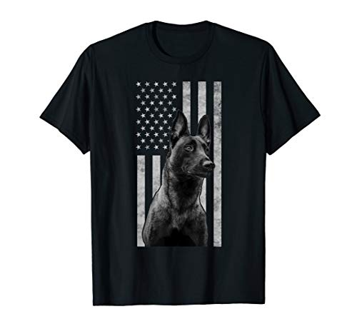 Malinois Police Dog Proud Owner USA K9 Police Canine Handler T-Shirt