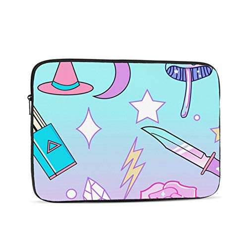 YTUTRfb Girly Pastel Goth Witch Pattern Laptop Sleeve Bag - Evecase 12 Inch Neoprene Universal Sleeve Zipper Protective Cover Case for Notebook
