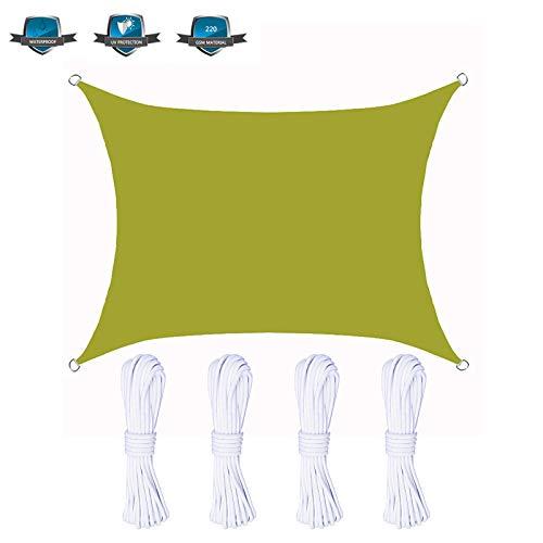Gnohnay 3.6x3.6M Toldo Permeable, Toldo con Bloqueador UV, Parasol Cuadrado, Cubierta Superior de Pérgolas para Exteriores, Patio, Jardín, Patio Trasero,Yellow Green