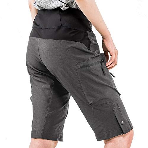 Cycorld MTB Hose Damen Radhose, Schnelltrocknend Mountainbike Hose mit Innenhose und hochwertigem Sitzpolster, Atmungsaktiv MTB Shorts Fahrradhose Damen Outdoor Bike Shorts (2XL,Dunkelgrau) - 3