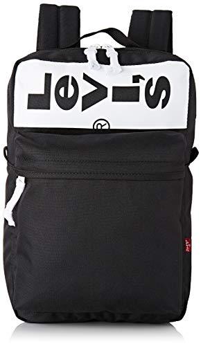Levi's Herren Mini L Pack Lazy Tab Rucksack, Schwarz (Regular Black), 10,5x23,5x37 centimeters