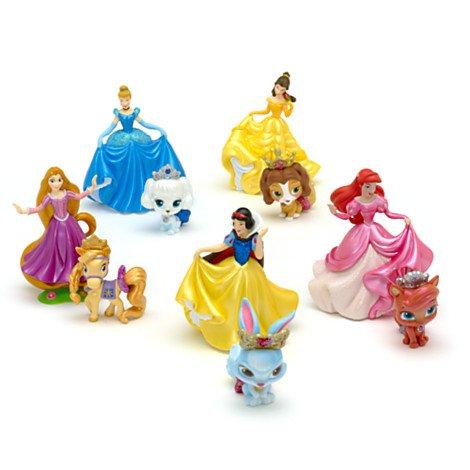 Disney Prinzessinnen und Palace Pets - Figurenspielset Deluxe - Rapunzel, Schneewittchen, Belle, Cinderella, Arielle mit Haustieren