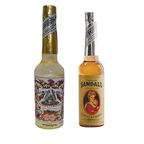 PACK DE DOS (2) BOTELLAS DE Agua de Florida 1 La Original Peru Amarilla 270 ml y otra de Sandalo de 221 ml.