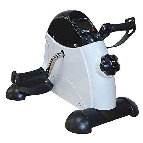 Equipo de la aptitud abdominal Cubierta Mini de pasos de fitness pedal de bicicleta portátil Leg Pierde bicicleta de gimnasio EquipmrntWeight Máquina de inicio de LCD ejercitador ( Color : Silver )