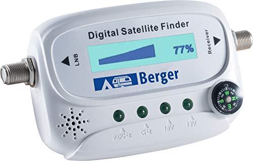 Berger Sat-Finder digital Satelliten Messgerät Digital Kompass Camping Outdoor Wohnwagen Fernsehen