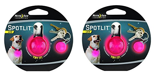 Nite Ize SPOTLIT Night Safety Light Color:Pink Size:Pack of 2