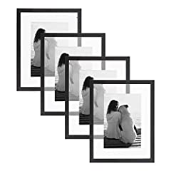 SLEEK BLACK FRAMES: Capture your favorite moments and tell a story with a DesignOvation Gallery Frameset. A gorgeous collection of quality wooden frames in a modern black finish will create a stylish statement. EASY TO HANG: Watch your cherished phot...