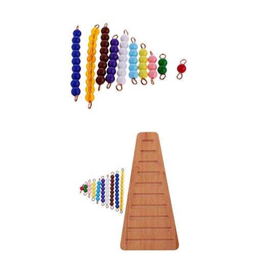 PETSOLA Cuentas De Colores Escaleras Calcular Preguntas Respuestas Desarrollar Montessori Kids Toy