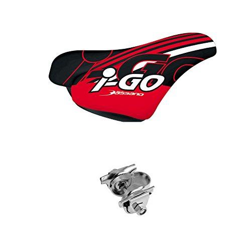 Sillin de Niño Niña SELLE BASSANO I-GO Ergonomico con Nuez ROJO Bicicleta 3962rj