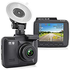 4K ULTRA HD RECORDING – The Rove R2-4k dash camera can record videos up to a resolution of 2160p. The ultra hd video recording quality is so good that you will notice much more clarity and quality difference than all other car dash cams. Revolutionar...
