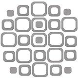 20 Pieces Adhesive Square Bath Treads Non-Slip Bathtub Stickers Non Slip Traction to Tubs Bathtub Stickers Adhesive Decals Appliques for Bath Tub Showers, Pools, Boats, Stairs (Gray)