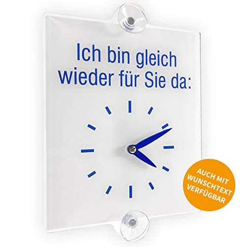 Betriebsausstattung24 Türschild Ladentürschild | Ich Bin gleich Wieder für Sie da | Hinweisschild für Gewerbe und Privat (Ich Bin gleich Wieder für Sie da, 21 x 30 cm)