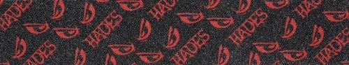 Hades Hera - Lija para Skateboard, Color Negro y Azul Negro Negro/Rojo