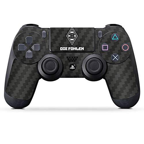 DeinDesign Skin kompatibel mit Sony Playstation 4 PS4 Controller Aufkleber Folie Sticker Borussia Mönchengladbach Carbon Gladbach