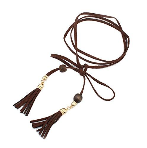 Aooaz Pizzo Nero strozzatore collana Pizzo lungo Velluto collana Pizzo Oro Knot collana con pendente Per donne Ragazze Gotico