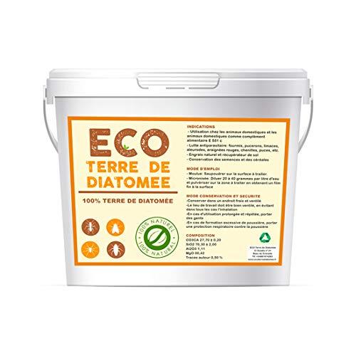 ECO Terre de Diatomee Micronisée 5kg   Non Calcinée   Alimentaire E551c   Soluble dans l'eau   100% Naturel et écologique   Naturel Contre Les Insectes (5)