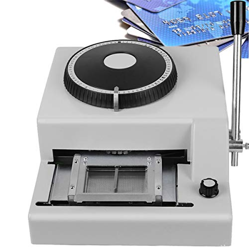 Card Embosser,72-Character Letters Manual Embossing Machine for PVC Card Credit ID VIP Card Making US Shipping 2-5 Days Delivery