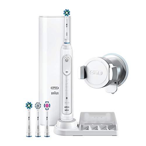 Oral-B Genius 9000N Elektrische Zahnbürste mit Positionserkennungstechnologie, weiß