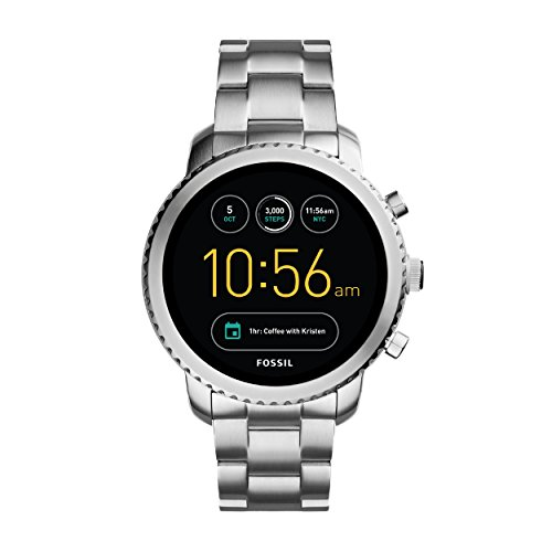 Fossil Herren Smartwatch Q Explorist 3. Generation - Edelstahl - Eindrucksvolle Smartwatch mit praktischen Funktionen / Für Android & iOS