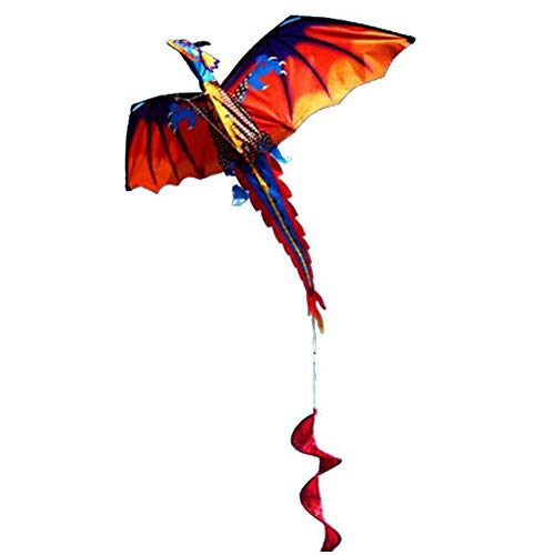 3D Dragon Kite Long Tail Vliegers Kinderen Adult Cartoon Animal Kites Flying Toys Outdoor Tool Toys,140 * 160cm
