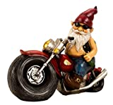 IKO Gartenzwerg Motorrad Zwerge für den Garten, Dekoration für die Terasse, Deko für den Balkon (Riesenzwerg)