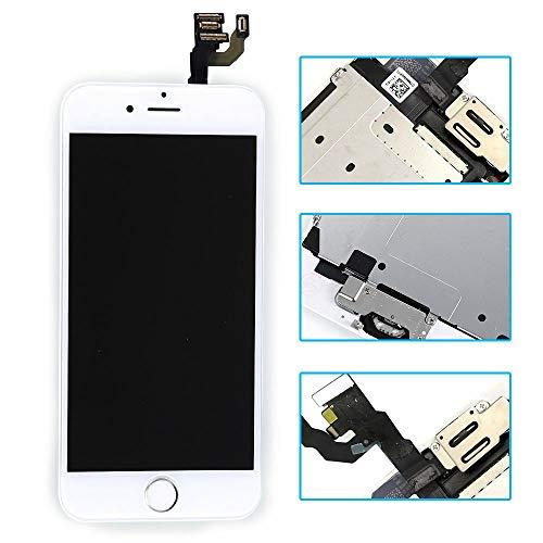 Pro-Mobile LCD-scherm Retina/vervangend display voor iPhone volledig voorgemonteerd front incl.reparatiegereedschap vervangdisplay/vervangend beeldscherm voor, iPhone 6, wit