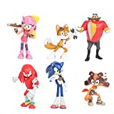 Sonic the hedgehog cake toppers figures Characters set of 6 Action Figure Toys Premium Cake Toppers cake decorations