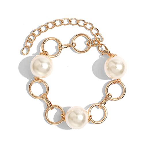 YFZCLYZAXET Pulseras Brazalete Joyería Mujer Charms Multicapa Pearl Chain Pulsera Brazaletes Mujeres Moda Pulseras De Color Dorado Jewelry-01Gd