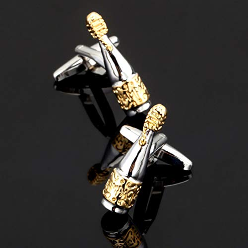 ZXWDL manchetknopen heren shirt manchetknopen gouden wijn flesje manchetknopen exclusieve designer brand beer bottle button