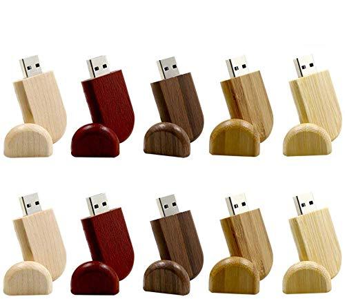 A Plus+ 10 Pezzi USB in Legno Personalizzato USB3.0 Flash Drive Pendrive 128GB ad alta velocità USB 3.0 Disk Memory Stick Storage esterno Fotografia Regali di Nozze