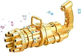 Foyomo 2021 Bubble Gatling Gun for Cool Toys & Gift (Gold (Music))