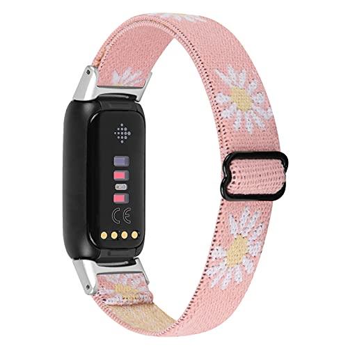 Vozehui Armbänder Kompatibel mit Fitbit Luxe Armbänder, verstellbares, hautfreundliches Sportarmband aus weichem Nylon, Ersatzarmband für Fitbit Luxe Fitness- und Wellness Tracker, Damen Herren