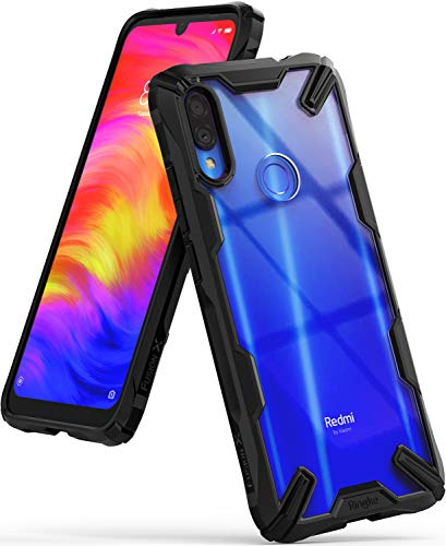 Ringke Fusion-X Designed for Xiaomi Redmi Note 7 Case (Note 7 Pro), Protection Cover for Xiaomi Redmi Note 7, Note 7 Pro (2019) - Black