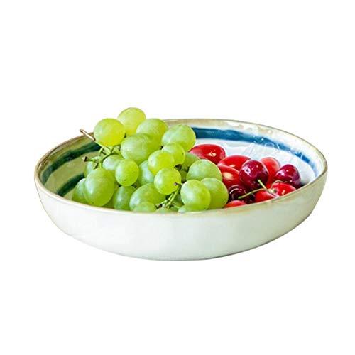 LIXBD Kitchenware/Tableware Kreative japanische Art-Obstsalat-Schüssel-Hauptgericht-Schüssel-Keramik-Schüssel-trockene Nudel-Schüssel-Glasur-Farben-Geschirr-Blaue und weiße Schüssel