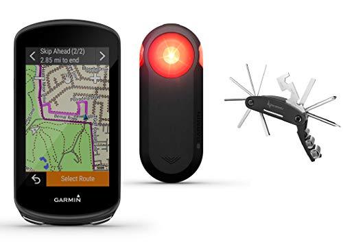 Garmin Edge 1030 Plus GPS Cycling Computer with Garmin Varia RTL515, Cycling Rearview Radar with Tail Light and Wearable4U Bike Multi Tool Bundle