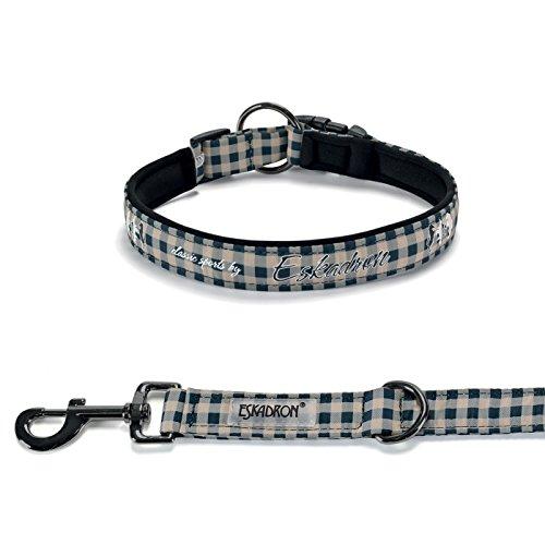 Eskadron Hundehalsbandset, Hundehalsband und Leine Classic Sports Größe L, Farbe Checked