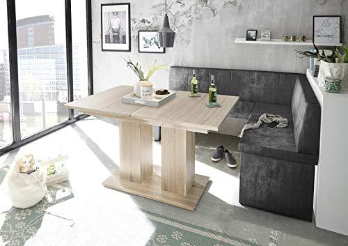 Reboz hoekbankgroep vintage zwart hoekbank eettafel Sonoma imitatie kunstleer 128 x 168 cm 168 x 128 cm rechts Vintage zwart