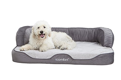 iComfort Sleeper Sofa Pet Bed with Dual Action Cool Effects Gel Memory