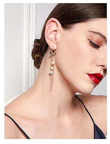 Ein Paar Perlenohrringe für Frauen und Mädchen, Schmuck, Quaste, modisch, edle Geschenkbox, Geschenk für Geburtstag, Party, Mutter, Freundin