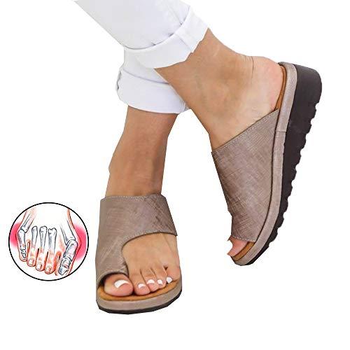 CCCS Strand Reise Schuhe Korrektive Zehentrenner Plattform Sandale rutschfest Zehen Bunion korrektive Schuhe