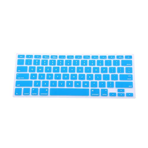Soft durable keyboard stickers Silicone Keyboard Cover Skin for for Macbook Pro for MAC 13 15 Air 13 model-Blue