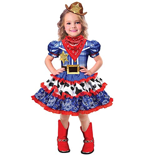 Amscan 8402356 Child Rodeo Cowgirl Costume Set - Medium Size