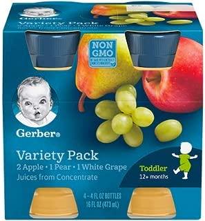 Gerber 100% Juice , 4-Ounce Bottles (Variety Pack, Pack - 6)
