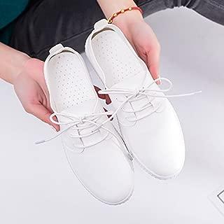 Wuyulunbi@ La primavera y el oto/ño zapatos blancos se/ñoras Zapatos Zapatos de velcro