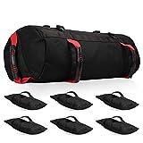 FASPUP Sandbag con Peso Variabile, Sacco di Sabbia da Allenamento per Il Fitness, Sacco di Sabbia da Allenamento Pesante con Sacchi di riempimento Vuoti per Esercizi di Tutto Il Corpo (Rosso)