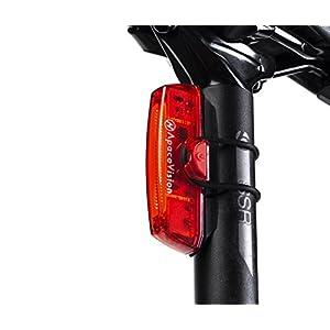 Apace Vision Luz Trasera para Bicicleta Recargable USB - Potente LED Faro Trasero Bici - Muy Luminoso y Fácil de Instalar Luces Rojas Máxima Seguridad Ciclismo